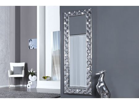 Miroir mural blanc simili cuir strass solutions pour la for Miroir long mural