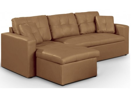 Canapé d'angle convertible Levana taupe pour 589€