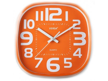 Horloge murale Pop orange pour 29€